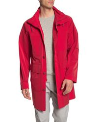 Tommy Hilfiger Lightweight Unlined Rain Trench Coat - Red