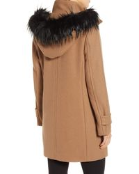 Cole Haan Faux Fur Trim 340 Winter Coat - Multicolour