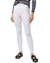TOPSHOP Moto Jamie High Waist Skinny Jeans - White
