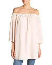 French Connection - Polly Off The Shoulder Dress - Lyst