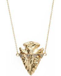 House of Harlow 1960 Arrowhead Pendant Necklace - Metallic