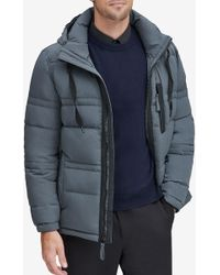 Andrew Marc - Huxley Removable Hood Crinkle Down Jacket - Lyst
