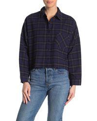 Cotton On Megan Cropped Shirt - Blue