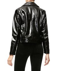 GOOD AMERICAN The Patent Biker Jacket - Black