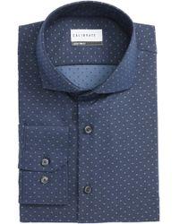 Calibrate - Extra Trim Fit Dot Dress Shirt - Lyst