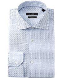 Bugatchi - Circle Print Shaped Fit Dress Shirt - Lyst