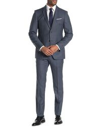 John Varvatos - Bedford Sharkskin Jacket & Pants 2-piece Trim Fit Suit - Lyst
