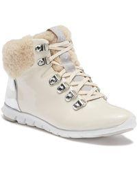 Cole Haan - Zerogrand Genuine Shearling Waterproof Hiker Boot - Lyst