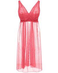 Cosabella Minoa Babydoll Slip Dress - Pink