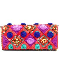 G-Lish Beaded Clutch - Red