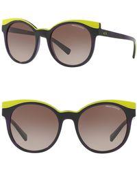 cd157b3f636 Lyst - Armani Exchange Men s Round Retro Sunglasses in Blue