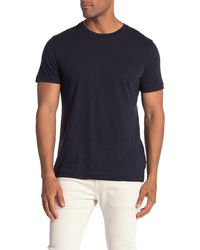 Theory Gaskell Short Sleeve Slub T-shirt - Blue