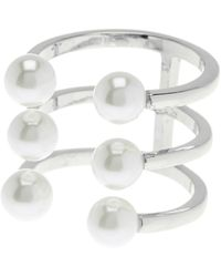 Rebecca Minkoff - Faux Pearl Wrap Ring - Size 7 - Lyst