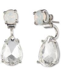 Marchesa | Crystal Pear-cut Drop Earrings | Lyst