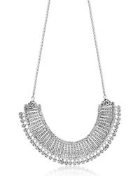 Lois Hill - Sterling Silver Filigree & Charm Trim Collar Necklace - Lyst