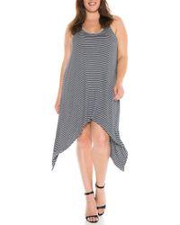 Slink Jeans - Stripe Tank Dress (plus Size) - Lyst