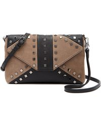 Sorial - Levi Leather & Suede Studded Crossbody Bag - Lyst