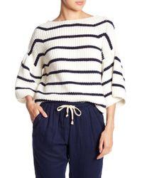 Fate - Colorblock Stripe Knit Sweater - Lyst