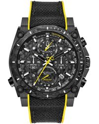 Bulova Precisionist Chronograph Black Ip Stainless Steel Watch