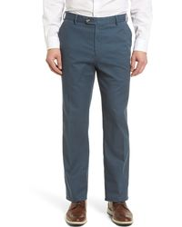 Peter Millar Solid Twill Chino Pants - Blue
