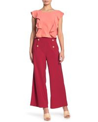 Sugarlips All Aboard Front Button Culotte Pants - Red