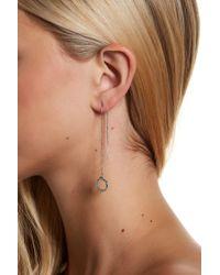 Jessica Simpson - Crystal Detail Circle Drop Threader Earrings - Lyst