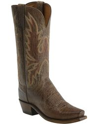 Lucchese - Goat Skin Cowboy Boot - Lyst