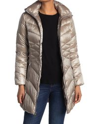 Via Spiga Packable Hood Longline Puffer Jacket - Multicolor