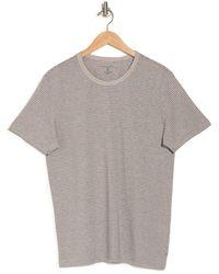 Daniel Buchler Striped Crew Neck Lounge T-shirt - Gray