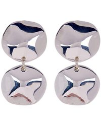 Simon Sebbag - Wave Double Disc Earrings - Lyst