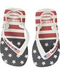 Havaianas - Baby Stars & Stripes Flip Flop (baby & Walker) - Lyst
