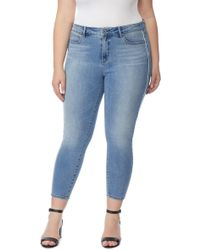 REBEL WILSON X ANGELS - The Pin Up Racer Mid Rise Crop Jeans (plus Size) - Lyst