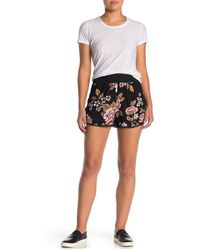 Angie Crochet Lace Floral Shorts - Black