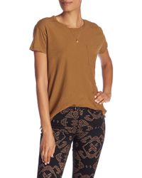 Scotch & Soda - Solid Dolman Tee With Necklace - Lyst