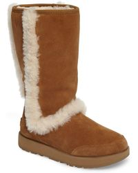 b0225c1aee4 UGG Suede Women's Sundance Waterproof Twinface Sheepskin Boot in ...