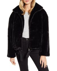 Rebecca Minkoff Brigit Faux Fur Jacket - Black