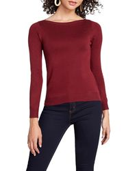 ModCloth Boat Neck Sweater - Red