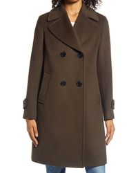 Sam Edelman Double Breasted Wool Blend Twill Coat - Multicolour