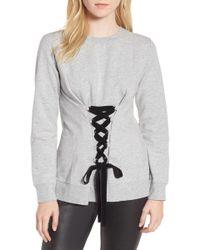 Trouvé - Lace-up Sweatshirt - Lyst