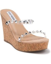 Steve Madden Selfless Studded Platform Wedge Sandal - Multicolour