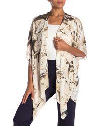 Nicole Miller - Printed Silk Kimono - Lyst