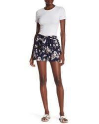 Angie - Front Tie Printed Shorts - Lyst