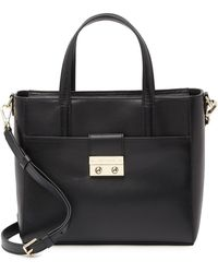 Cole Haan Lock Group Small Tote Bag - Black