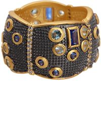 Freida Rothman - Bezel Set Cz & Multigrain Trim Scallop Shape Cigar Ring - Size 5 - Lyst
