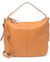 Luisa Vannini Pebbled Leather Structured Top Handle Bag In Cognac At Nordstrom Rack - Brown