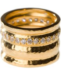 Melinda Maria - Cigar Band Ring - Size 5 - Lyst