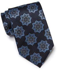 Ermenegildo Zegna Floral Silk Tie - Blue