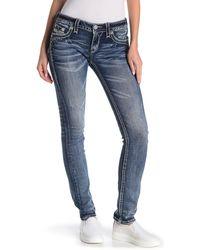Rock Revival Straight Leg Embellished Jeans - Blue