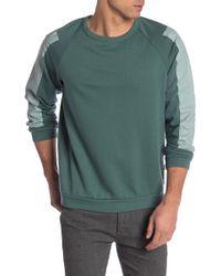 Onia Dave Raglan Sleeve Crew Neck Sweatshirt - Green