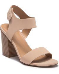 Call It Spring Tralia Block Heel Sandal - Natural